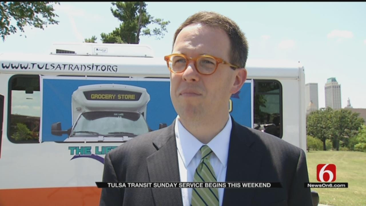 Tulsa Transit Starting Sunday Bus Service This Weekend