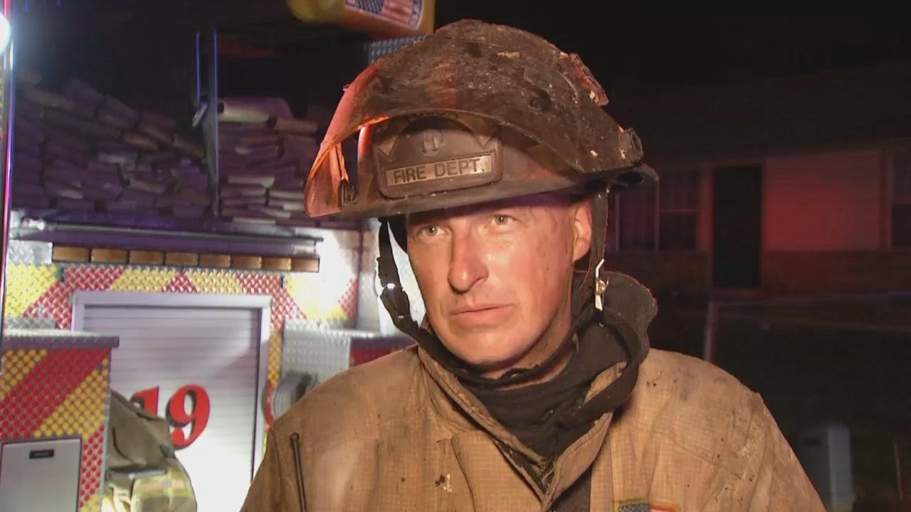 WEB EXTRA: Tulsa Fire Captain Patrick Odell Talks About The Fire