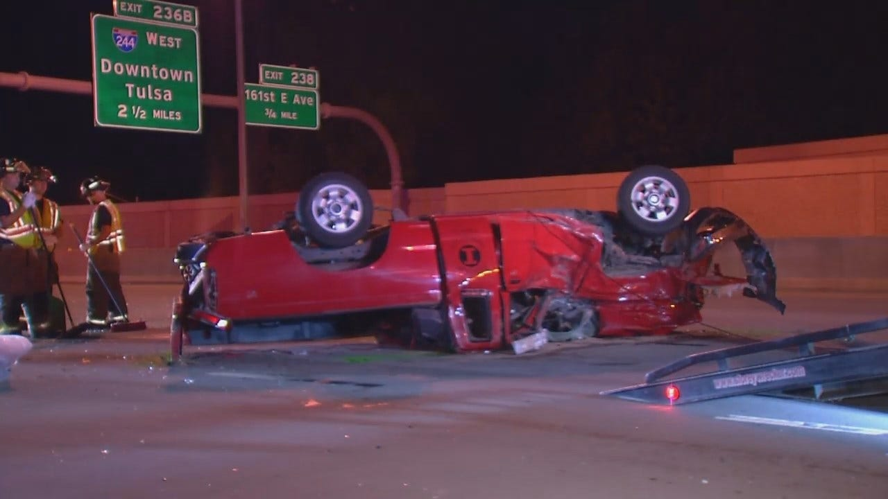 WEB EXTRA: Video From Scene Of I-44 Tulsa Crash