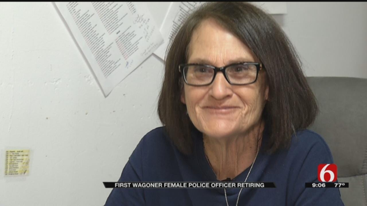 Wagoner Police Department's First Woman Officer Retires