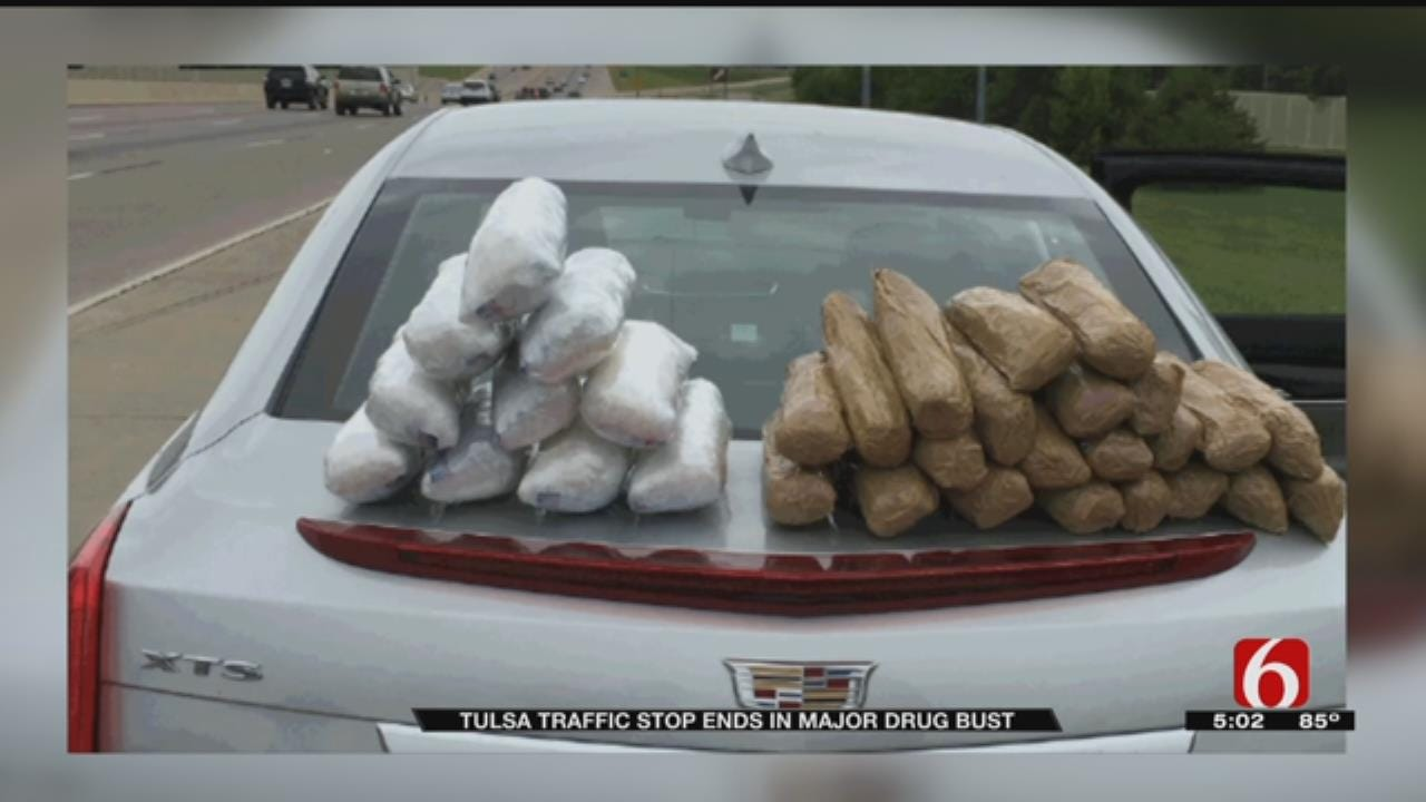 Tulsa Police K-9 Finds 44 Pounds Of Meth During Traffic Stop