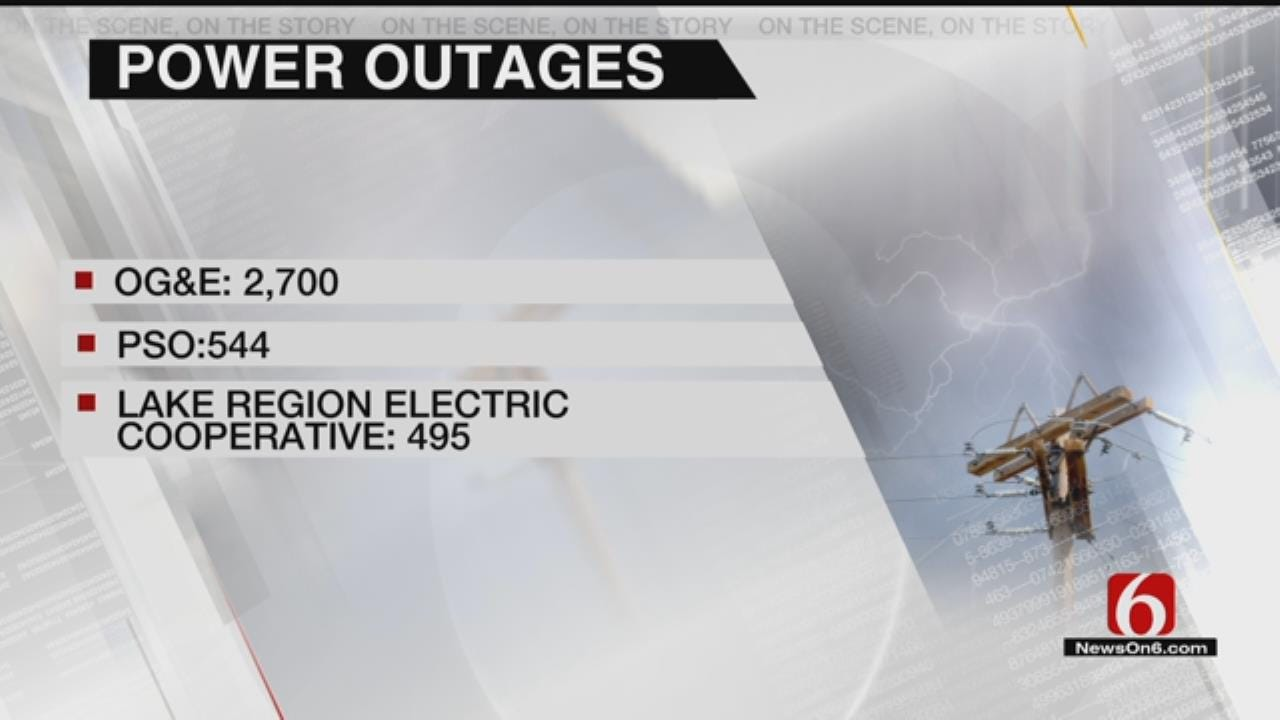 Storms Leave Thousands In Eastern Oklahoma Without Power