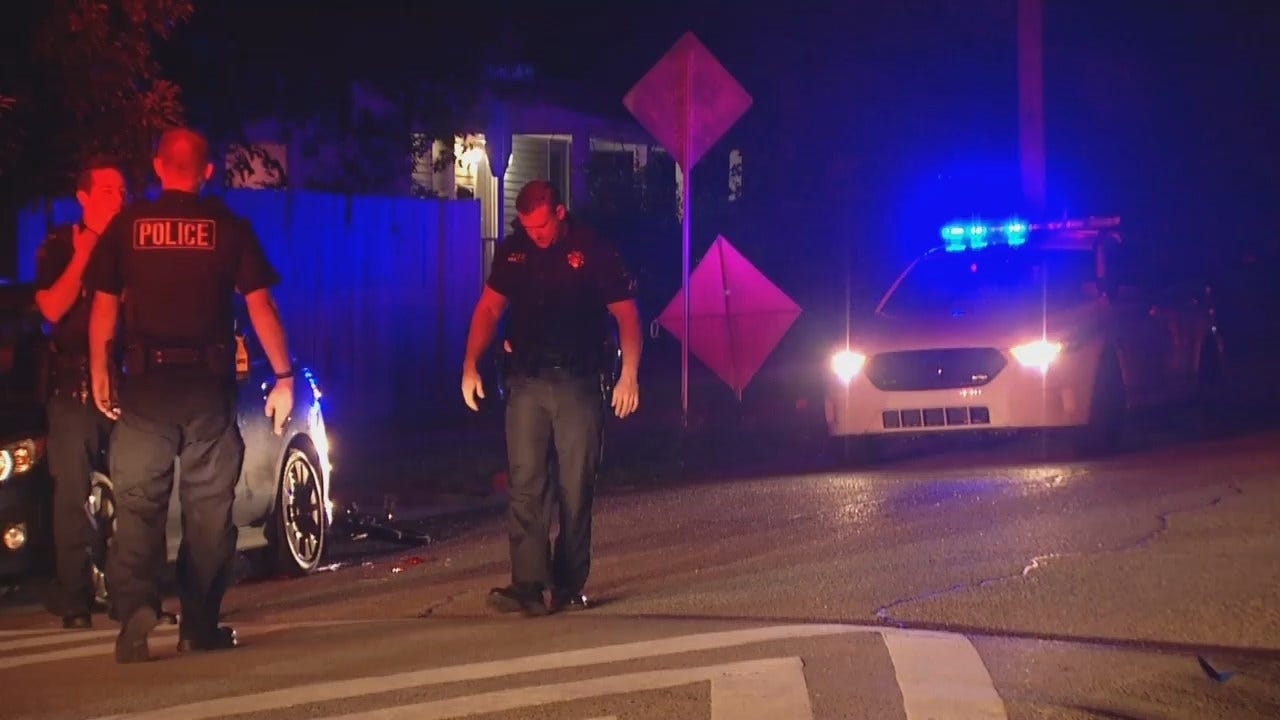 WEB EXTRA: Video From Scene Of Bicycle-Parked Car Crash In Tulsa