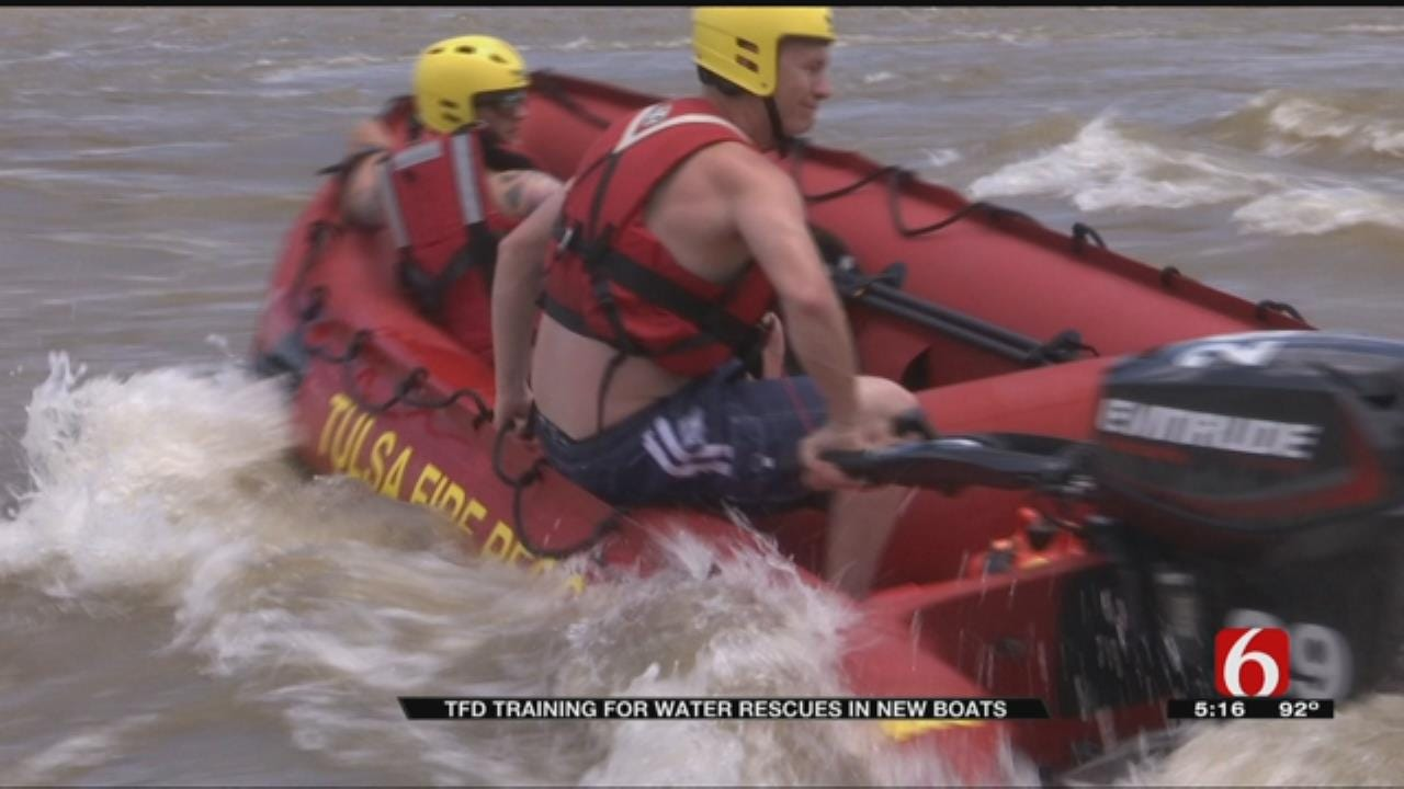 Tulsa Fire Department Issues New Rescue Boats