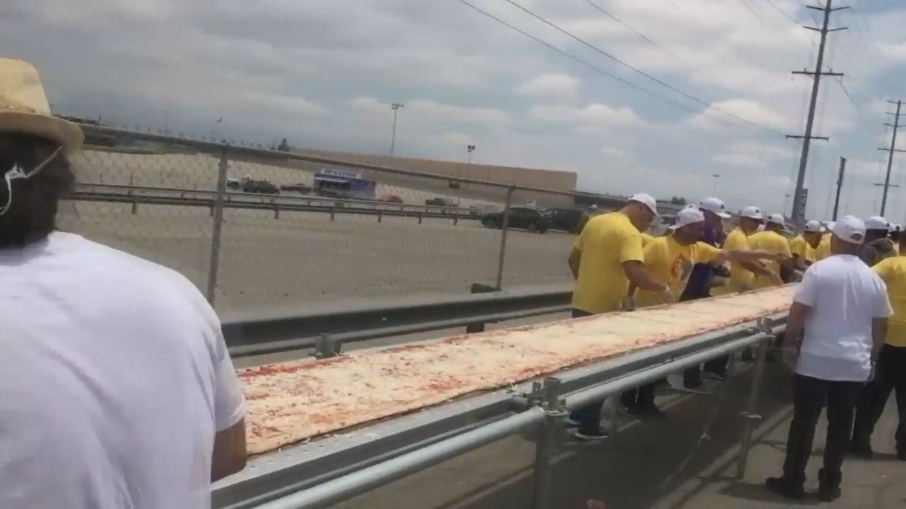WEB EXTRA: Andolini's Owner Takes Part In World Record Attempt