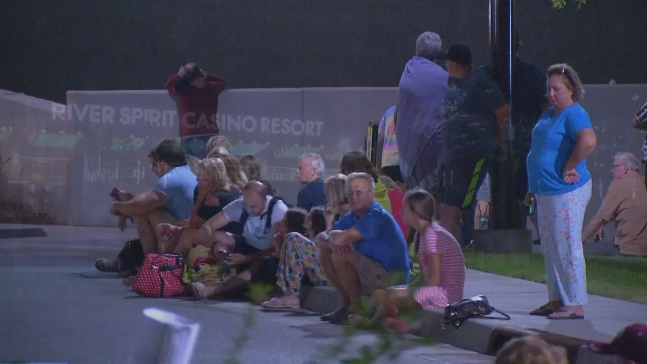 WEB EXTRA: Video From Scene At Tulsa's River Spirit Hotel And Casino
