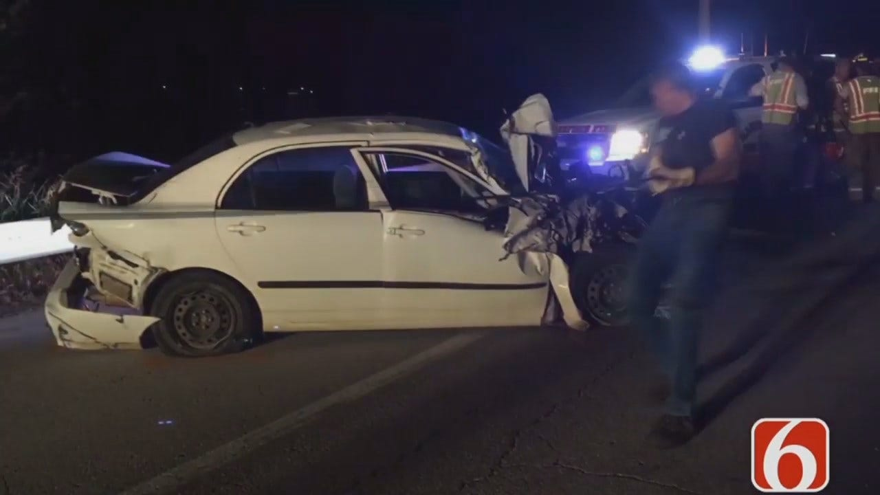 WEB EXTRA: Video From Scene Of Mannford Crash
