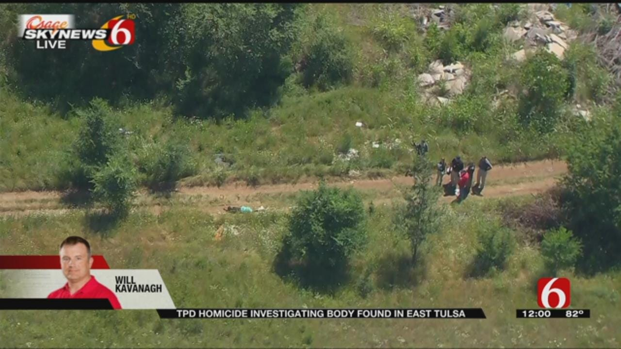 Homicide Detectives Investigate After Body Found In East Tulsa