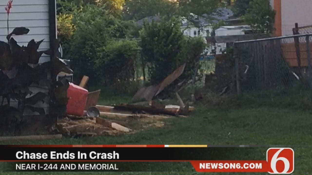 Joseph Holloway Says Man Arrested After Tulsa Chase, Crash