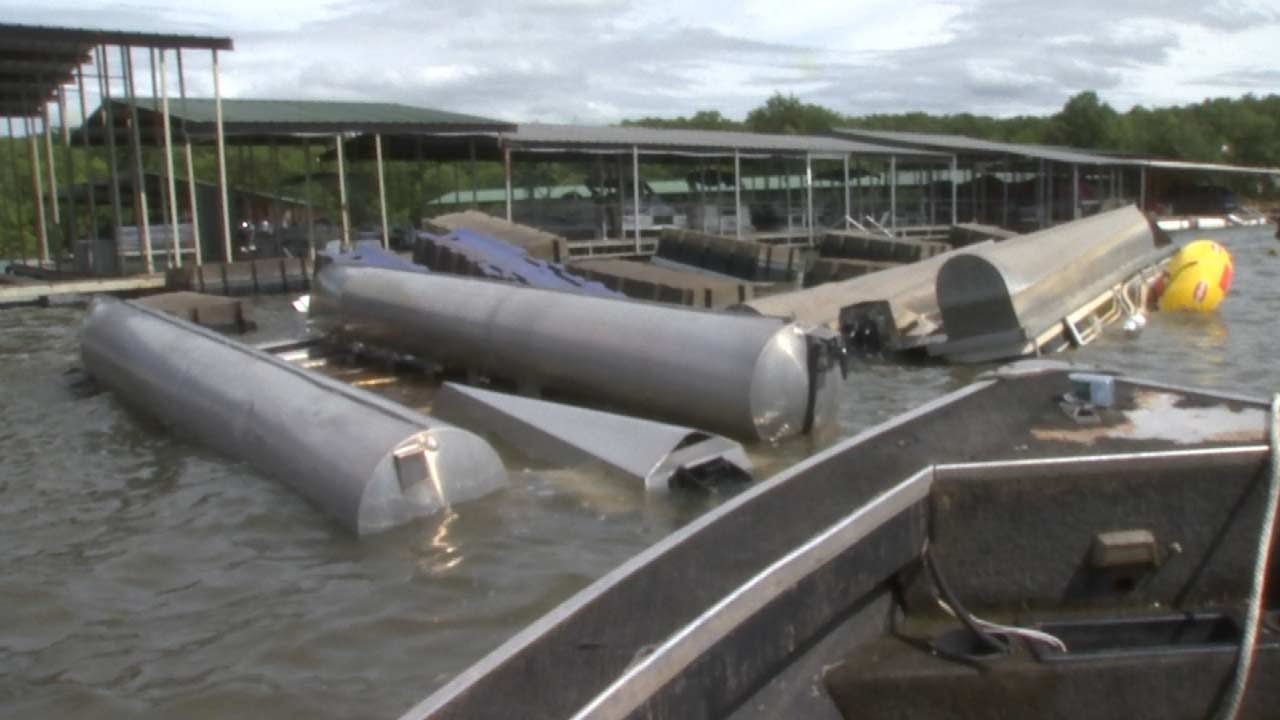 Fort Gibson Lake Marinas Cleaning Up After Damaging Storms