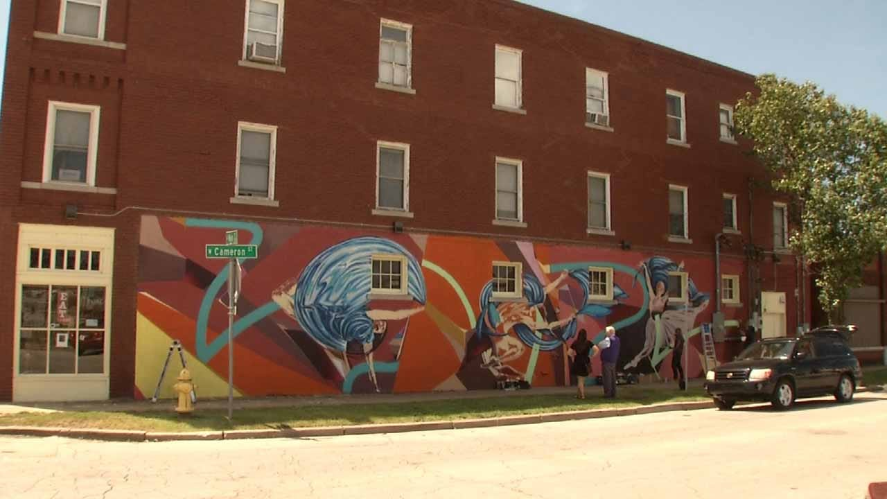 Artists Creating New Mural In Tulsa's Brady District