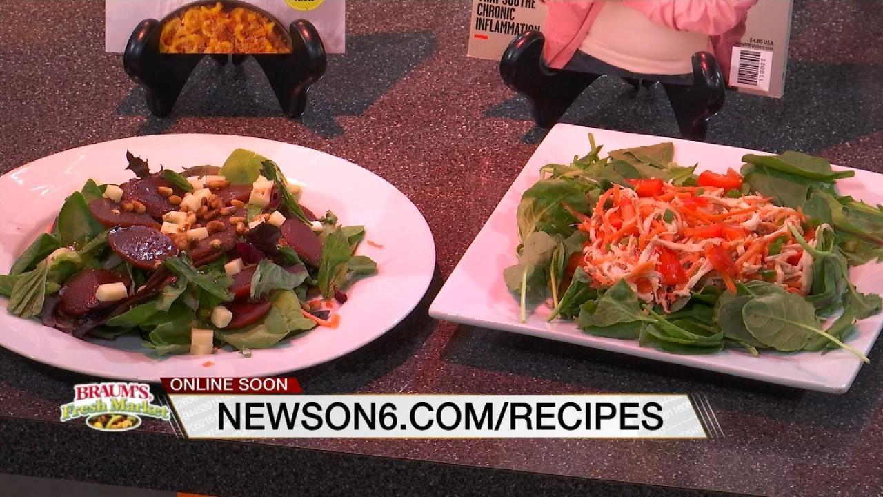 Sesame Lime Chicken Salad -- Beet, Mozzarella And Greens Salad