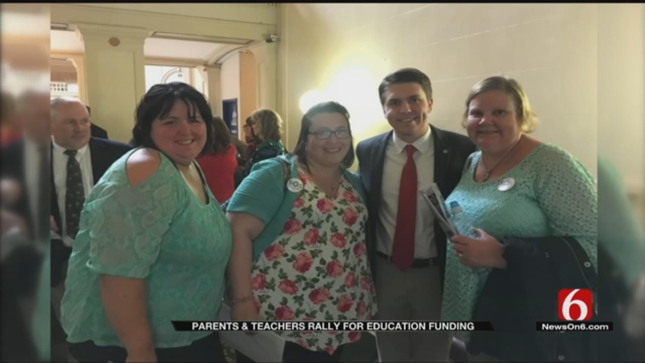 Tulsans Rallying For Education Funding Meet With Lawmakers