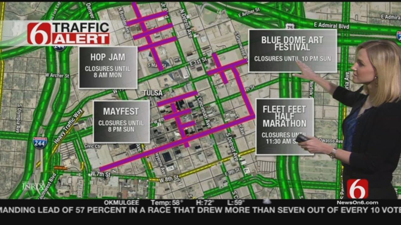 Tulsa Road Closures For Weekend Festivals