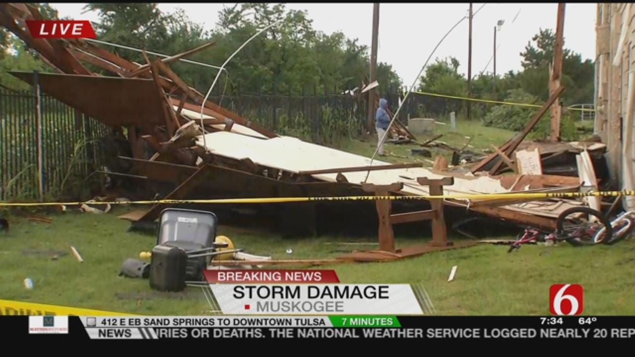 Storms Rip Roof Off Muskogee Apartment Building