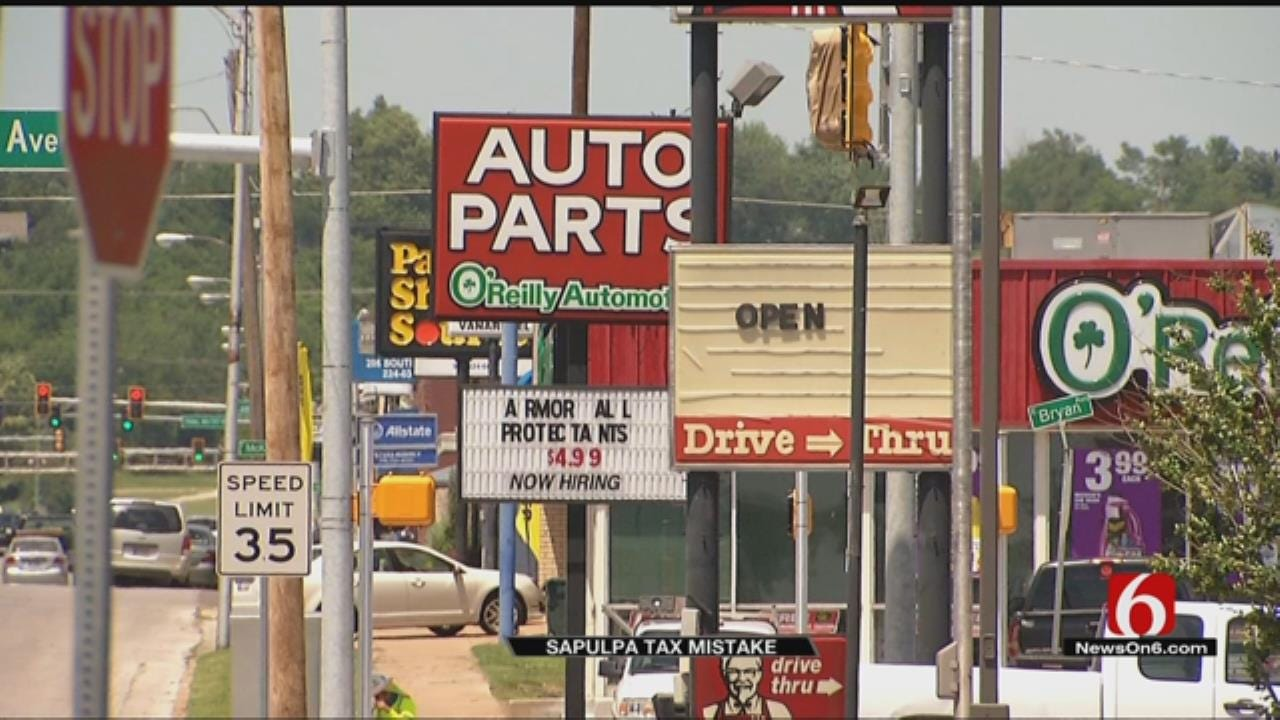 Some Sapulpa Businesses Charging Too Much Sales Tax By Mistake