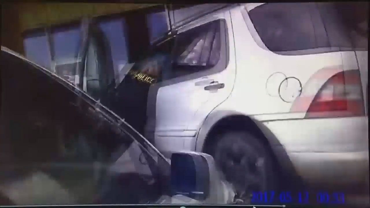 WEB EXTRA: Owasso Police Body Cam Video Of Arrest