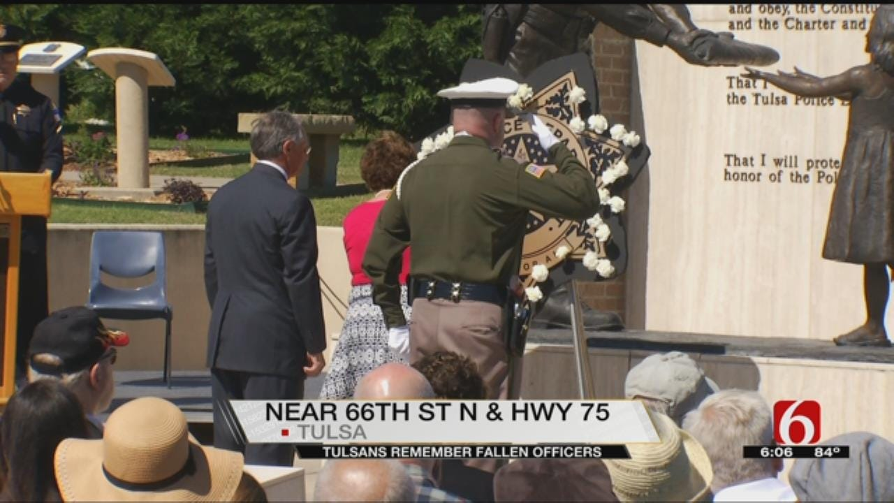 Dozens Honor Fallen Tulsa Officers