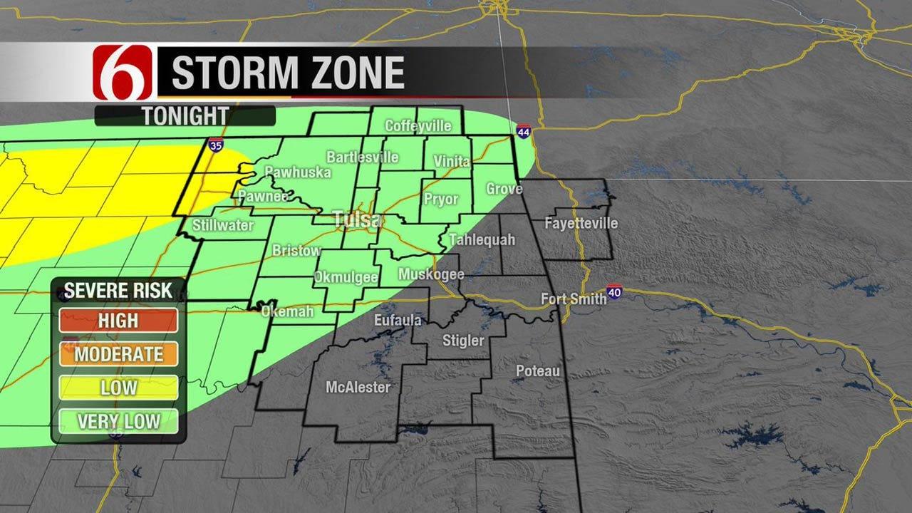 Thunderstorms, Hail Threatens Eastern Oklahoma