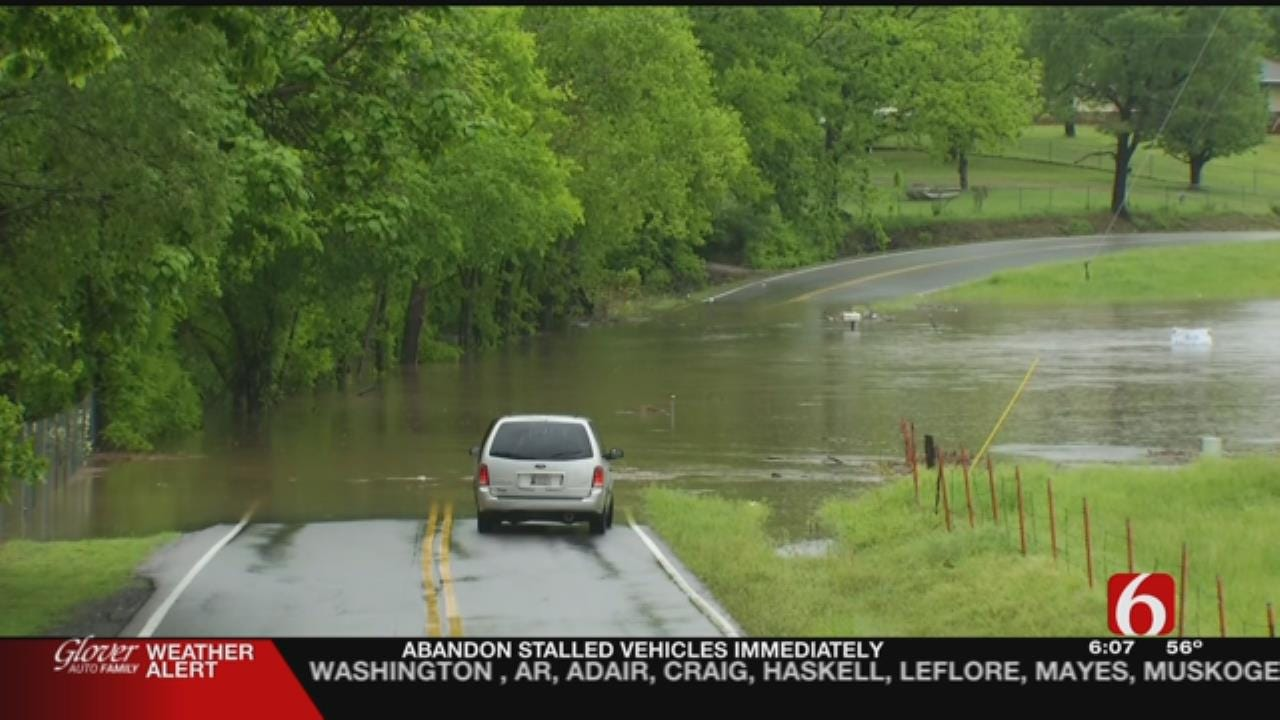 Floodwater Causing Problems For Hulbert Residents