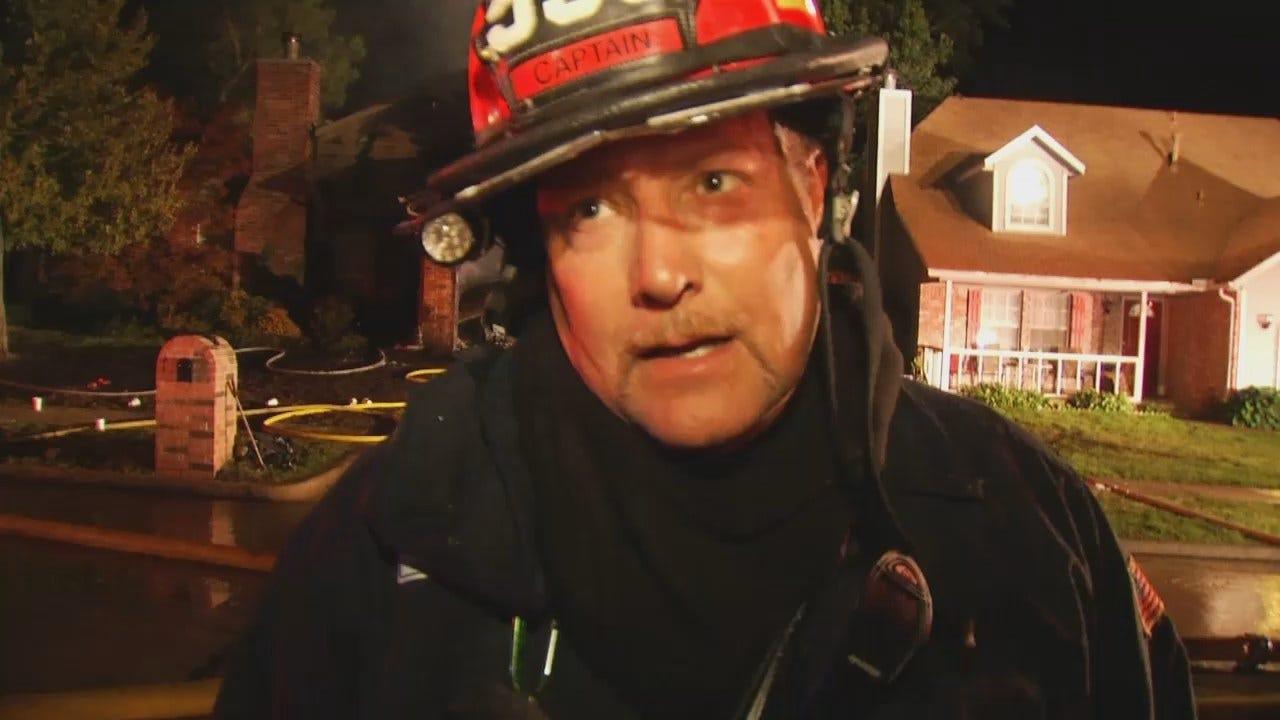WEB EXTRA: Jenks Fire Captain Kirk Morris Talks About The Fire