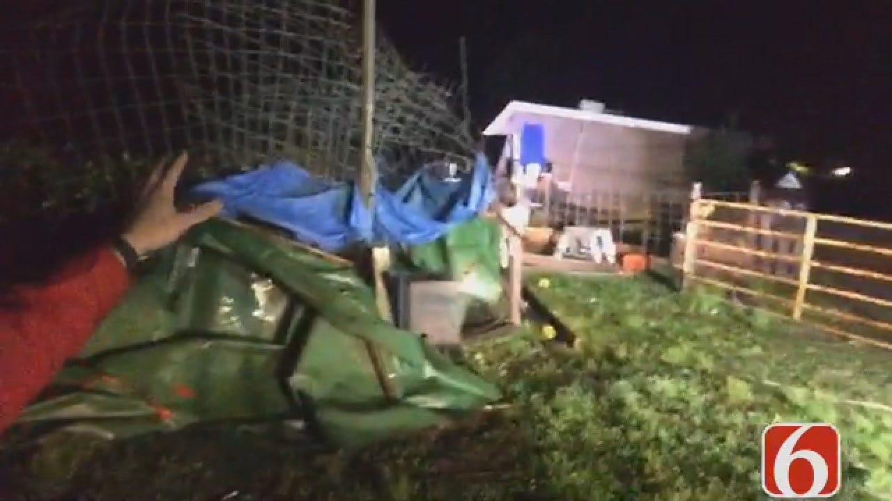 Dave Davis Reports On Storm Damage Near Adair