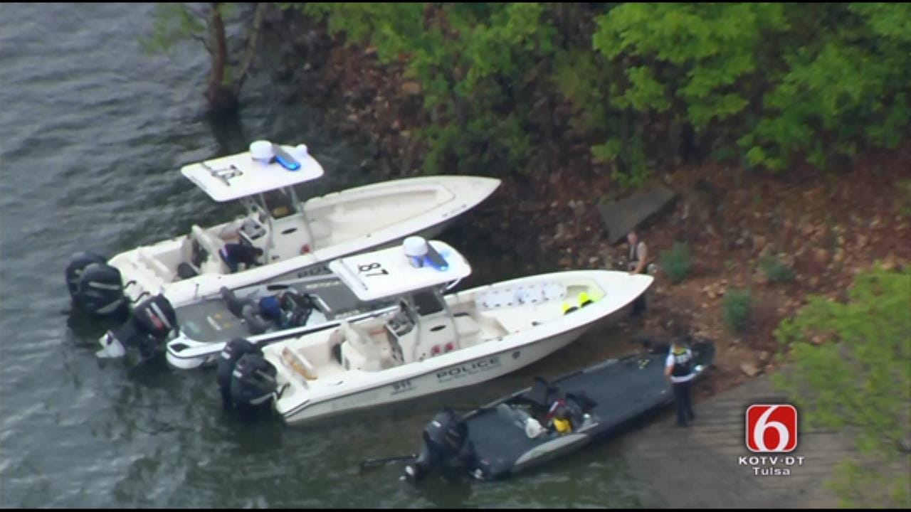 Osage SkyNews 6 HD Flies Over Grand Lake Boat Collision Aftermath