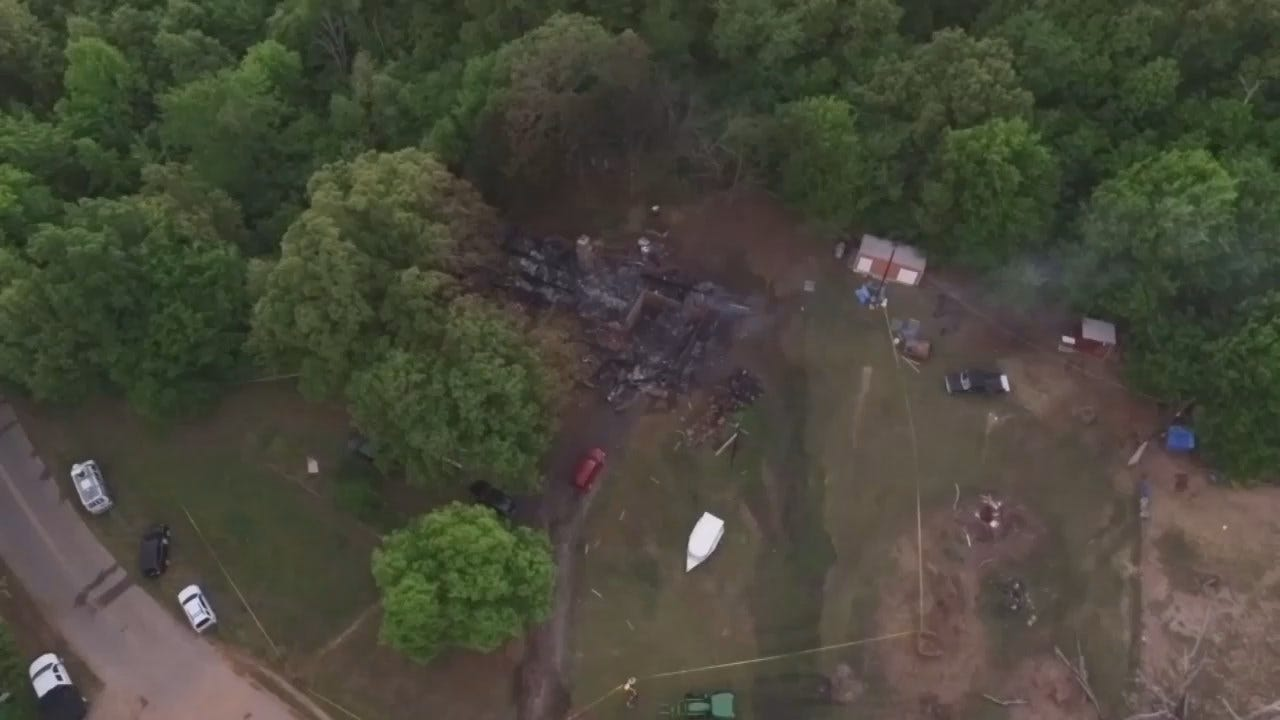WEB EXTRA: Video From Scene Of Fatal Muskogee County House Fire