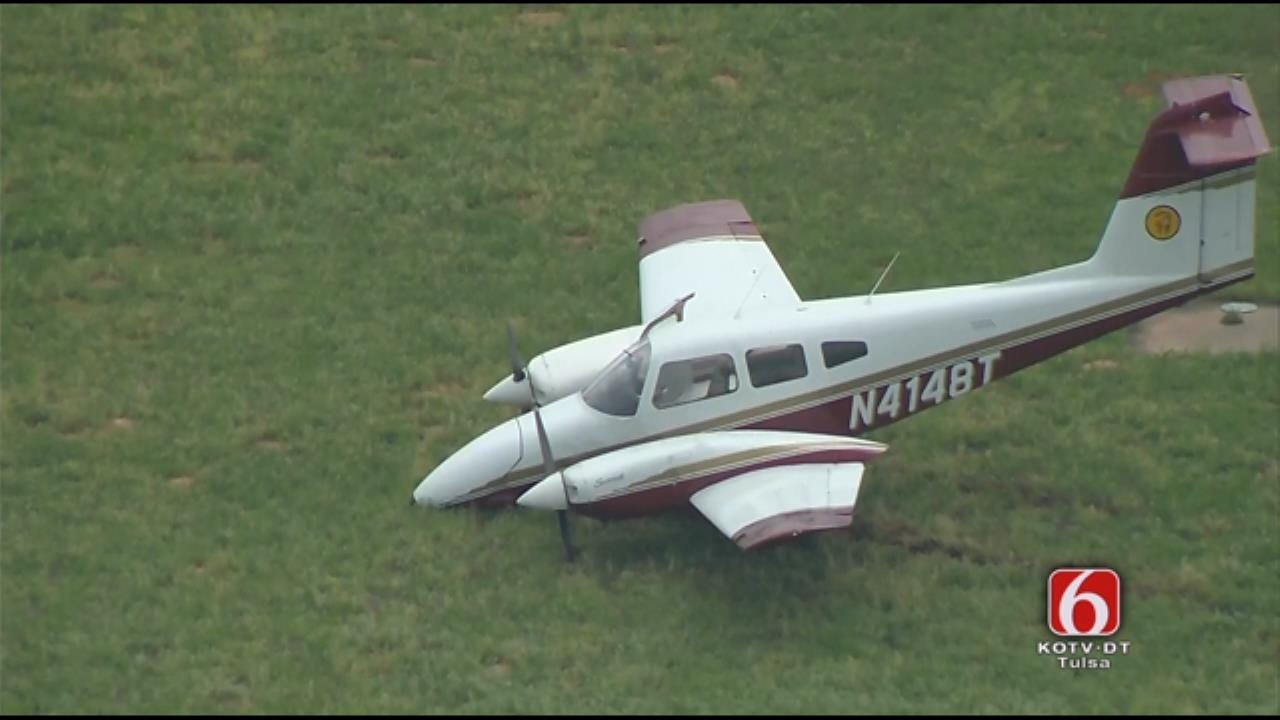 Osage SkyNews 6 HD: Plane Goes Nose Down At Jones Riverside Airport