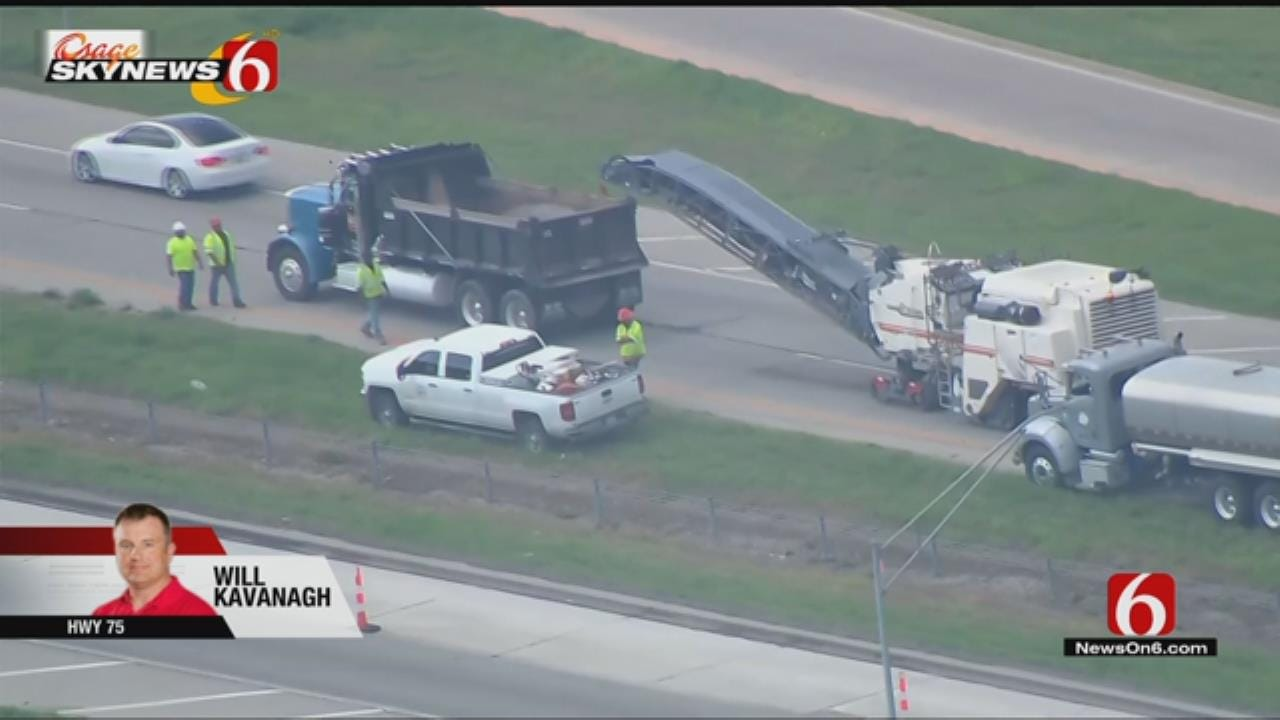 Osage SkyNews 6 HD: Tulsa Highway 75 Resurfacing Update