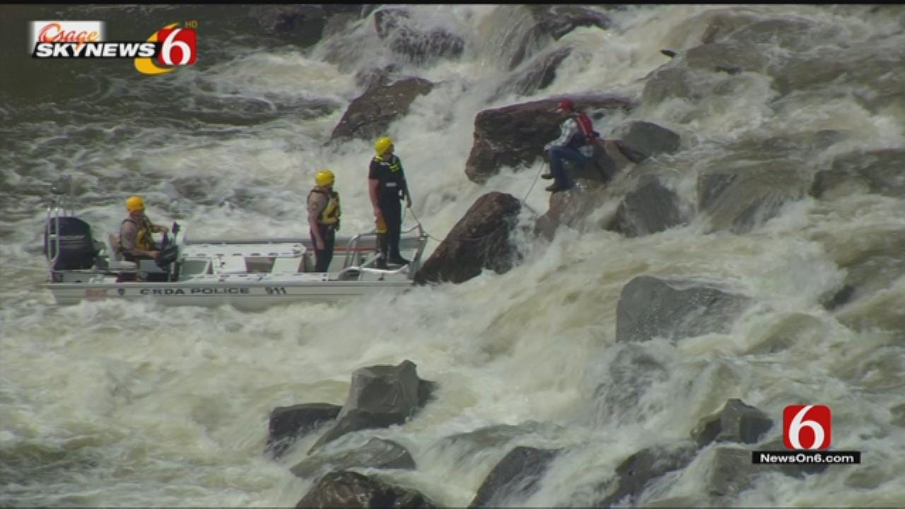 GRDA Rescues Man Trapped In Neosho River In Mayes County