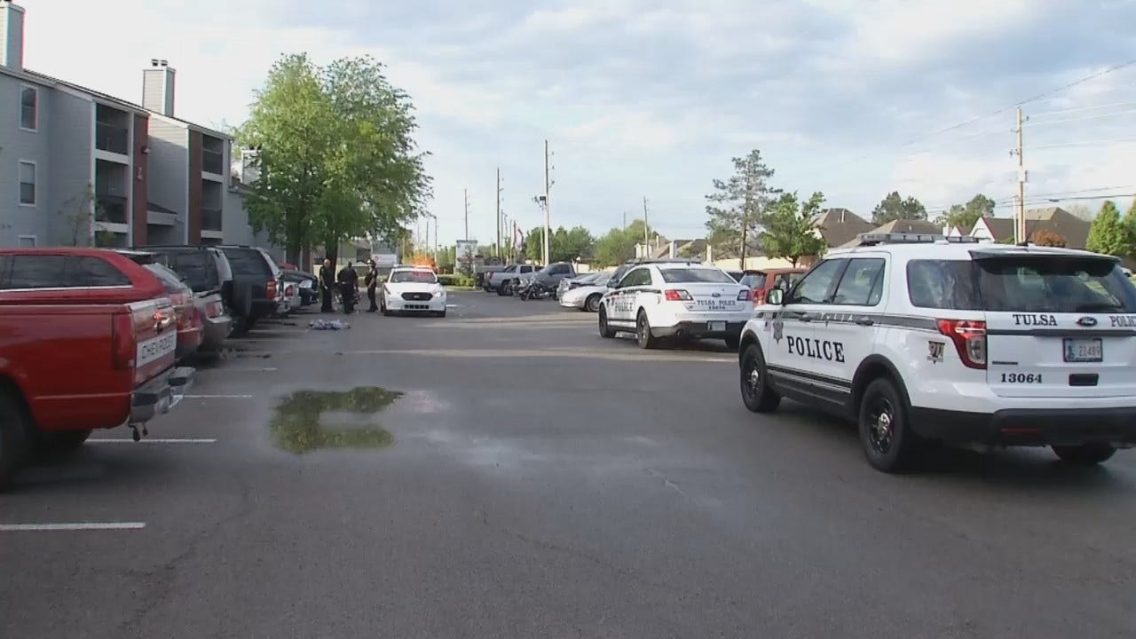 WEB EXTRA: Video From Scene At Tulsa Apartment Complex