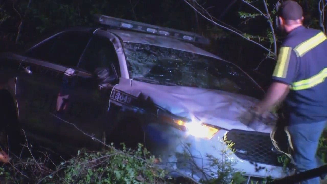 WEB EXTRA: Video From Scene Of Crash Involving Suspected DUI Driver