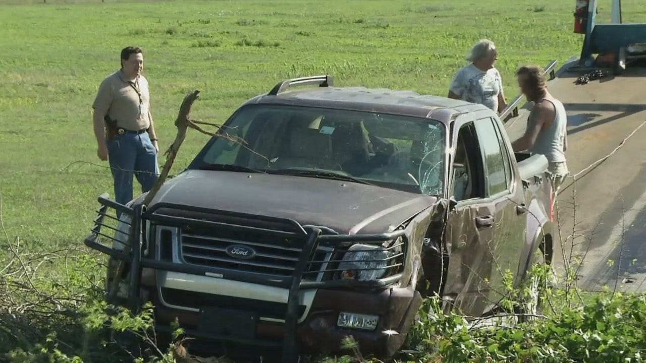 WEB EXTRA: Okmulgee Chase Ends On Highway 75