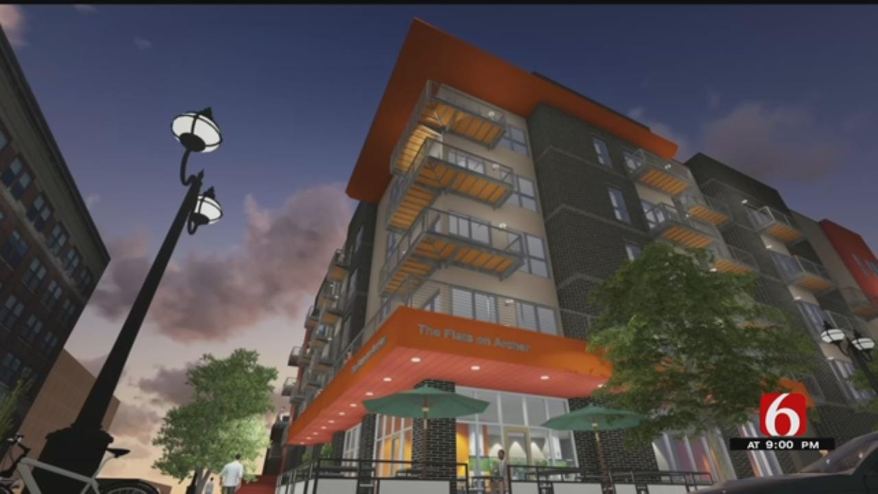 Groundbreaking Held For 'Flats On Archer' In Downtown Tulsa