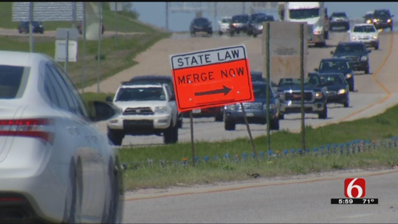 TPD Warns Drivers About Not Merging Properly In Construction Zones