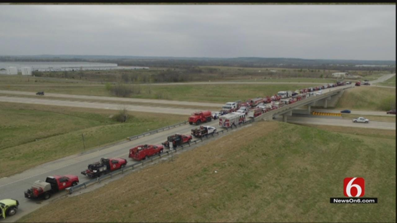 WEB EXTRA: Fire Trucks Line Roads At Funeral For Ochelata 8 Year Old