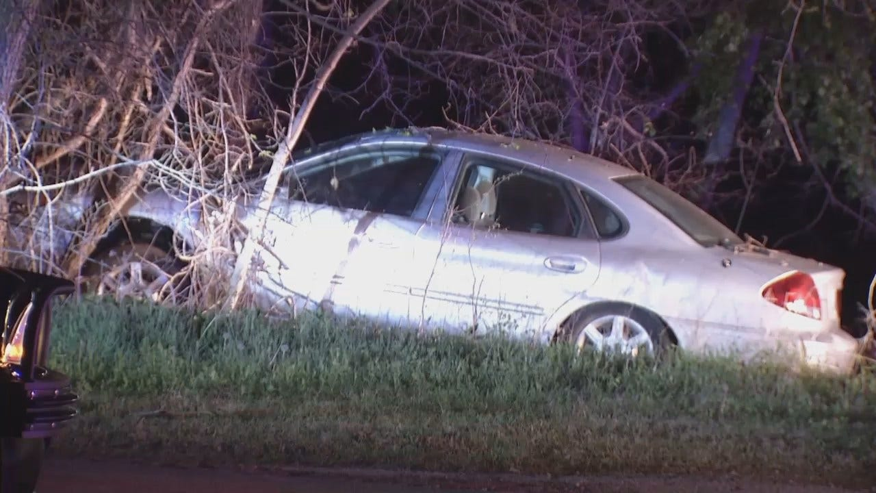 WEB EXTRA: Video From Scene Of Tulsa County DUI Crash