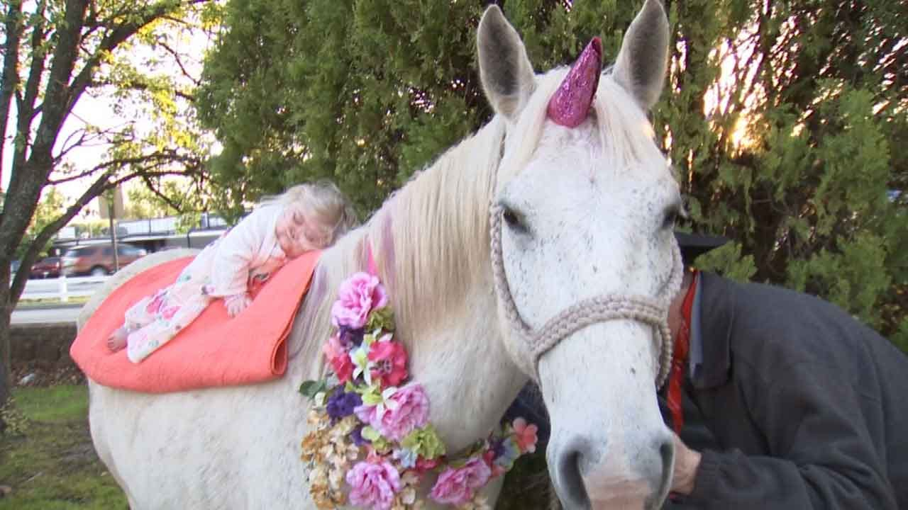 Special-Needs Toddler Celebrates Birthday With 'Unicorn,' Thanks To Kindness Of Strangers