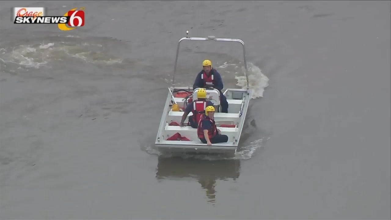 Osage SkyNews 6HD: Tulsa Firefighters Searching The Arkansas River