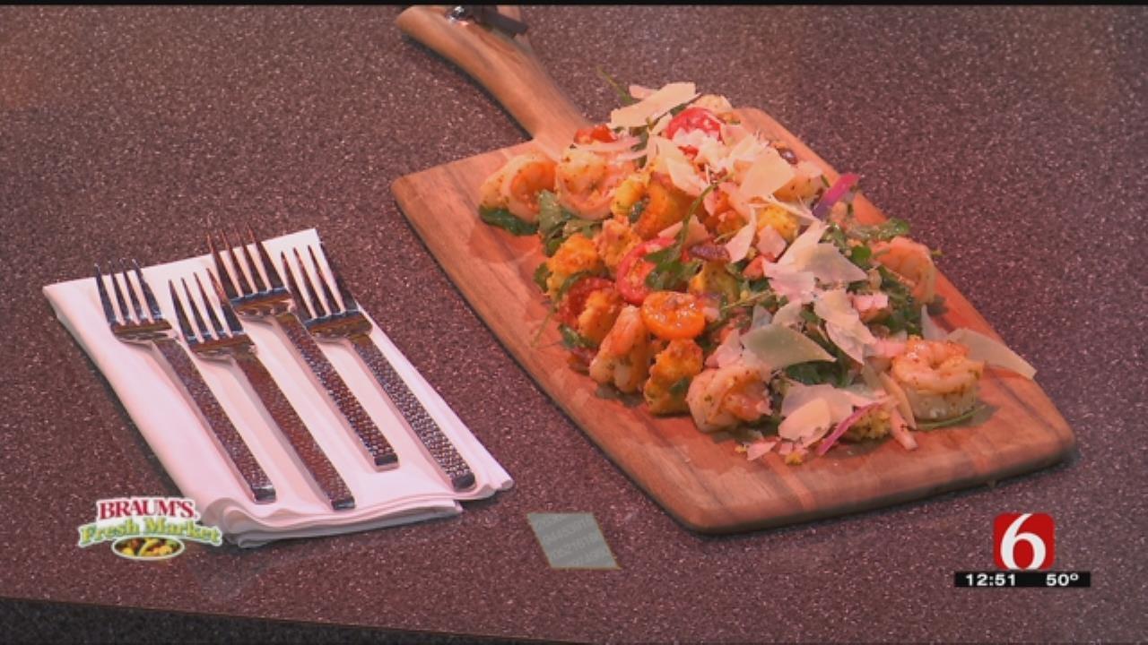 Southern Cornbread & Shrimp Panzanella Salad