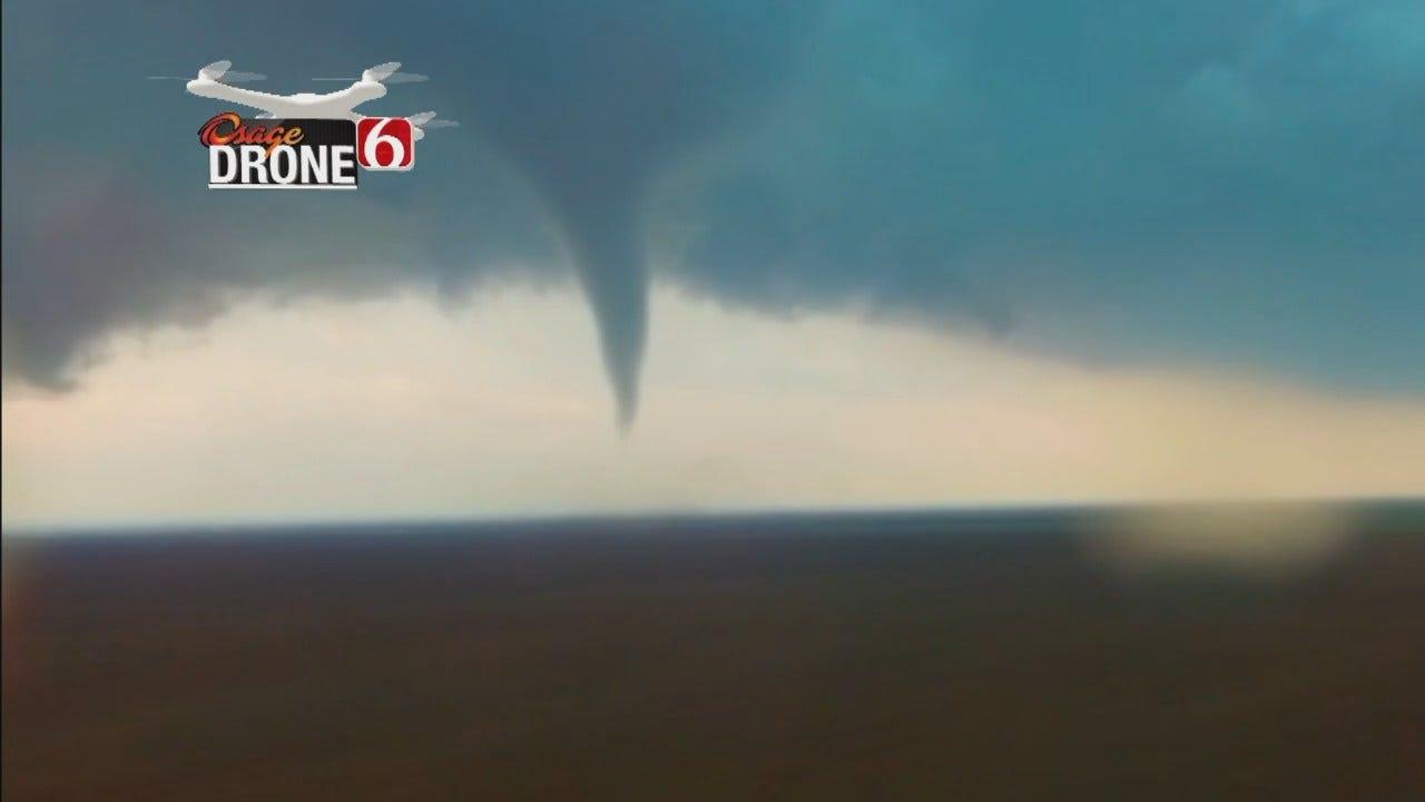 WEB EXTRA: Drone 6 Video Of Stamford, Texas Tornado