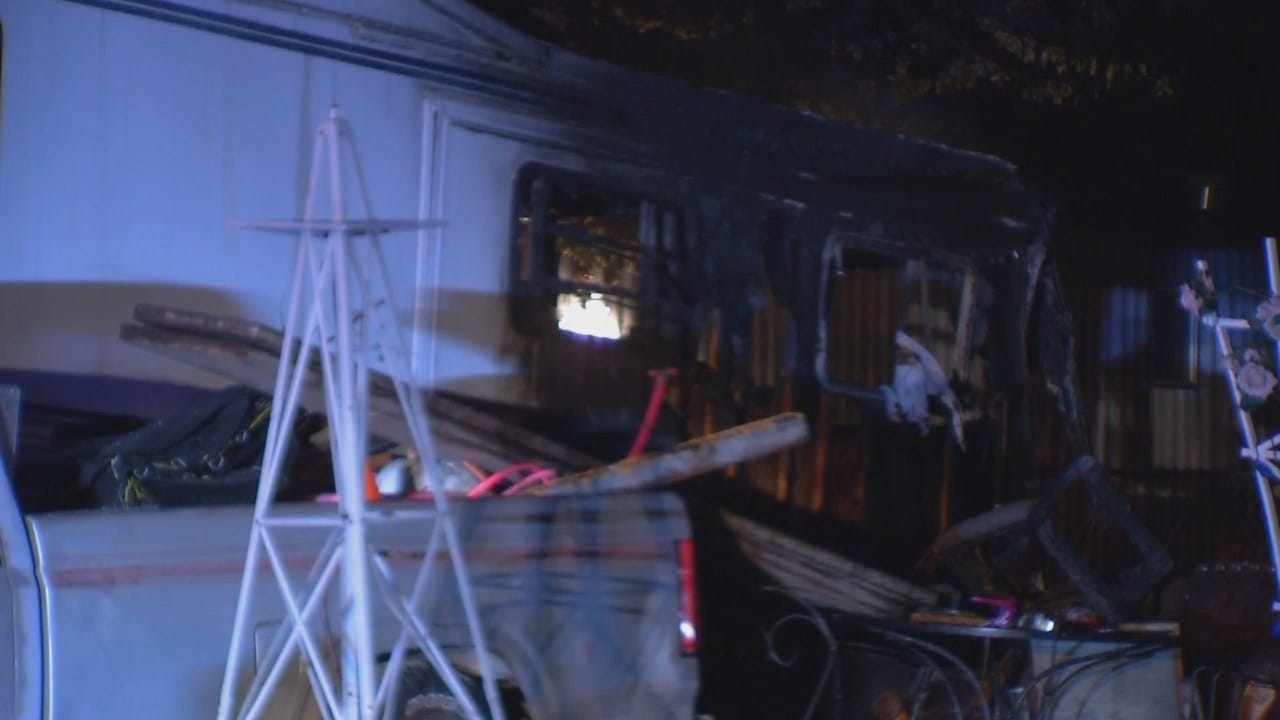 WEB EXTRA: Video From Scene Of Turley Trailer Fire