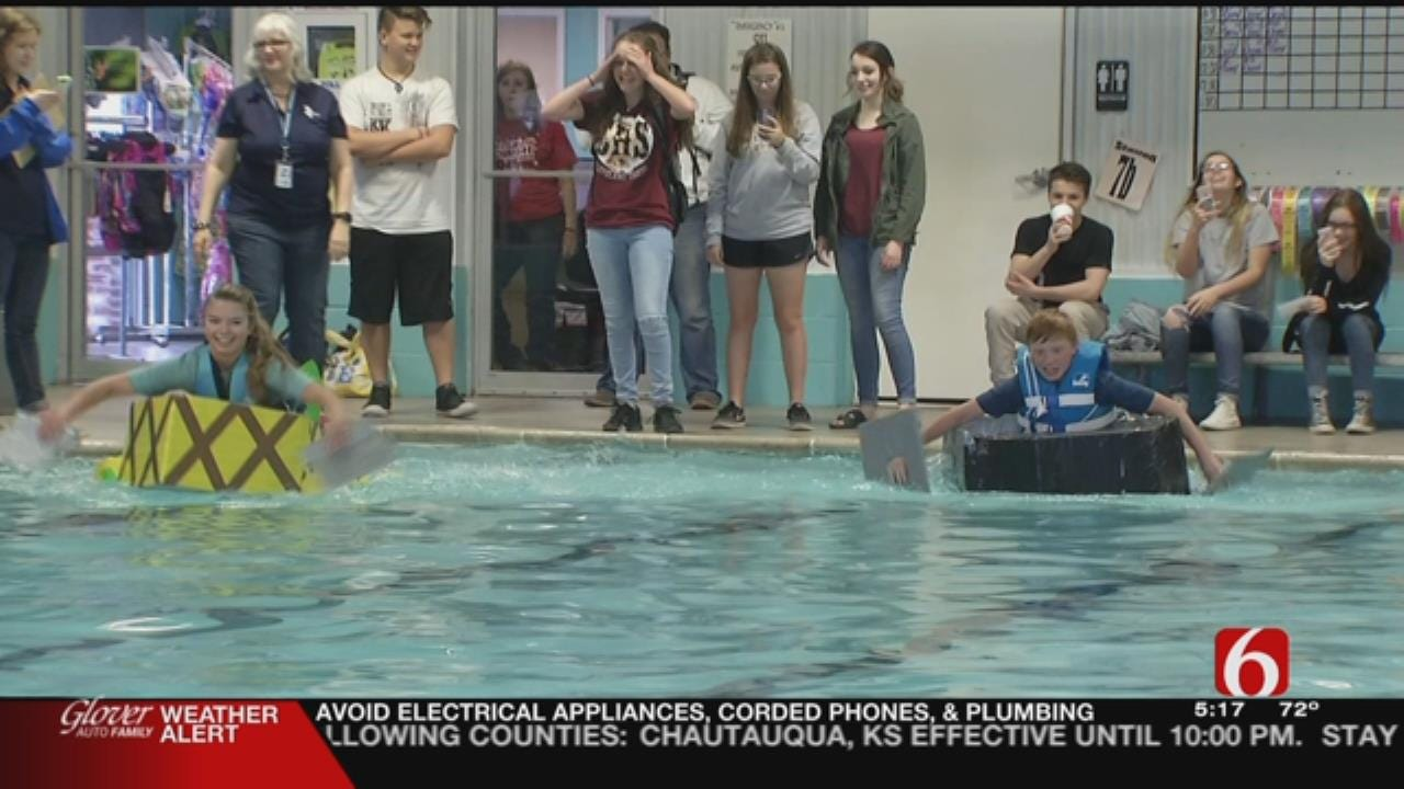 Green Country Students Test STEM Skills At Cardboard, Duct Tape Regatta
