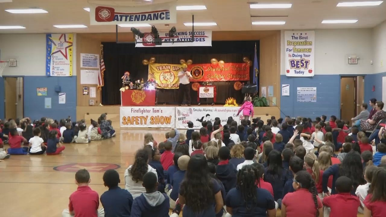 WEB EXTRA: Video From 'Huffy, The Clown' Fire Safety Program
