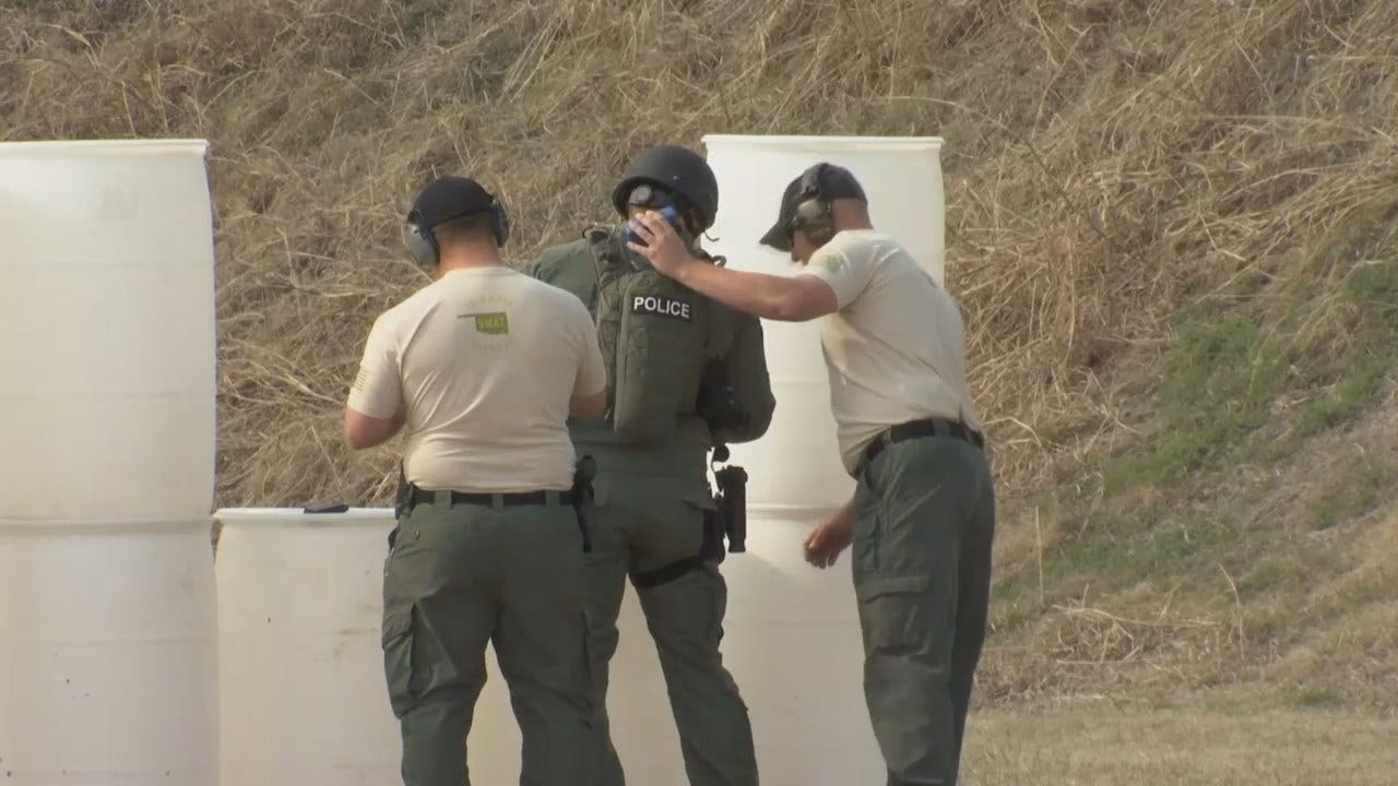WEB EXTRA: Oklahoma Police Departments Hold SWAT Competition In Tulsa