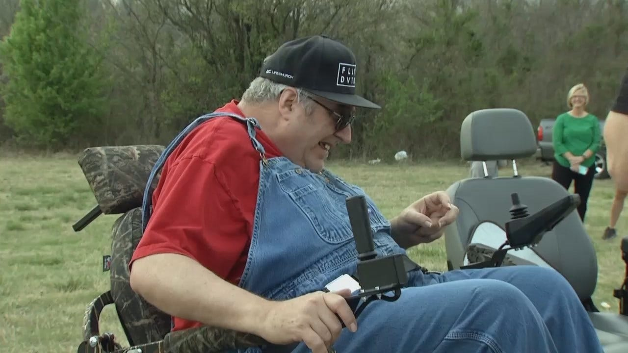 WEB EXTRA: Owasso Man Receives 'Gift Of Mobility' From Friends