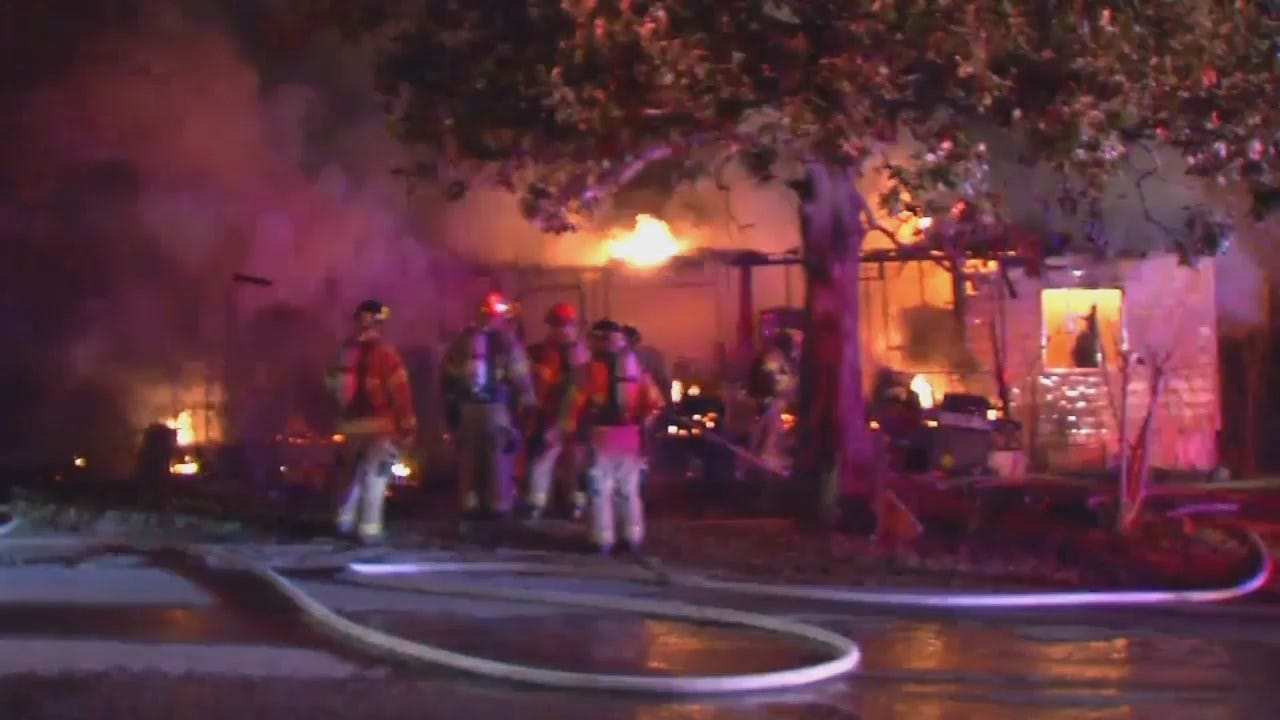 WEB EXTRA: Video From Berryhill House Fire