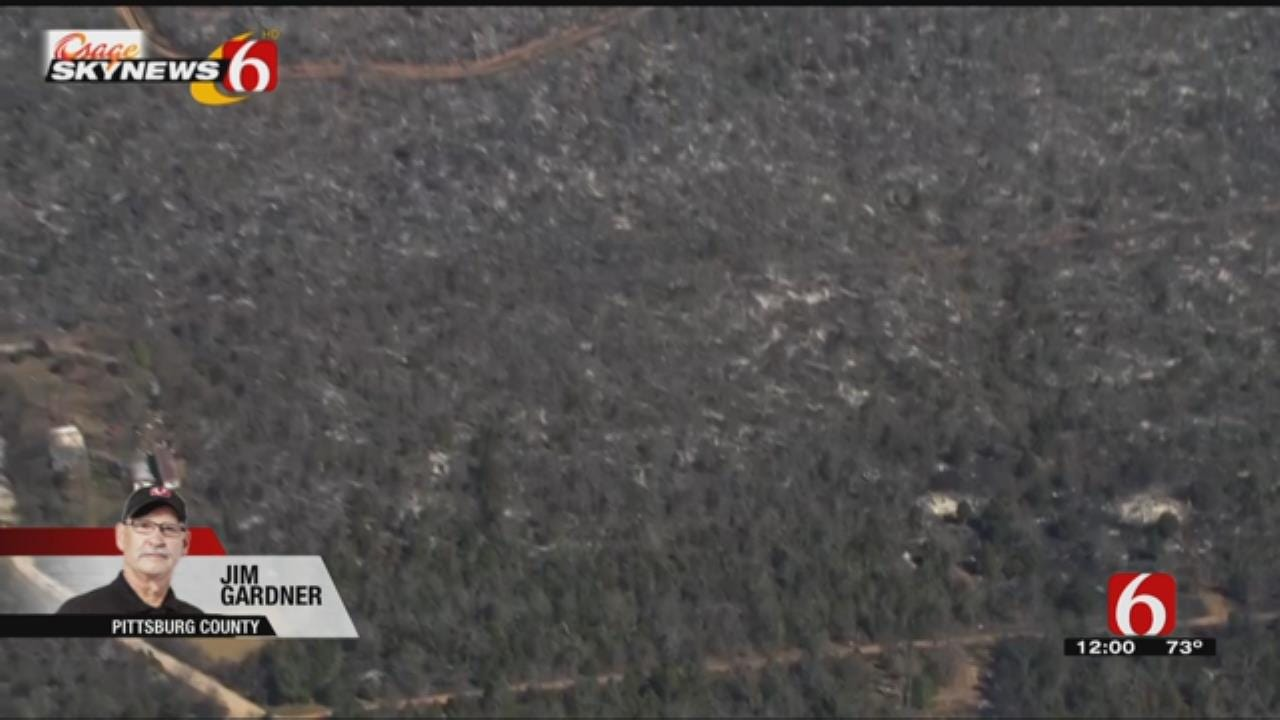 Osage SkyNews 6 HD Flys Over Aftermath Of Longtown Wildfire