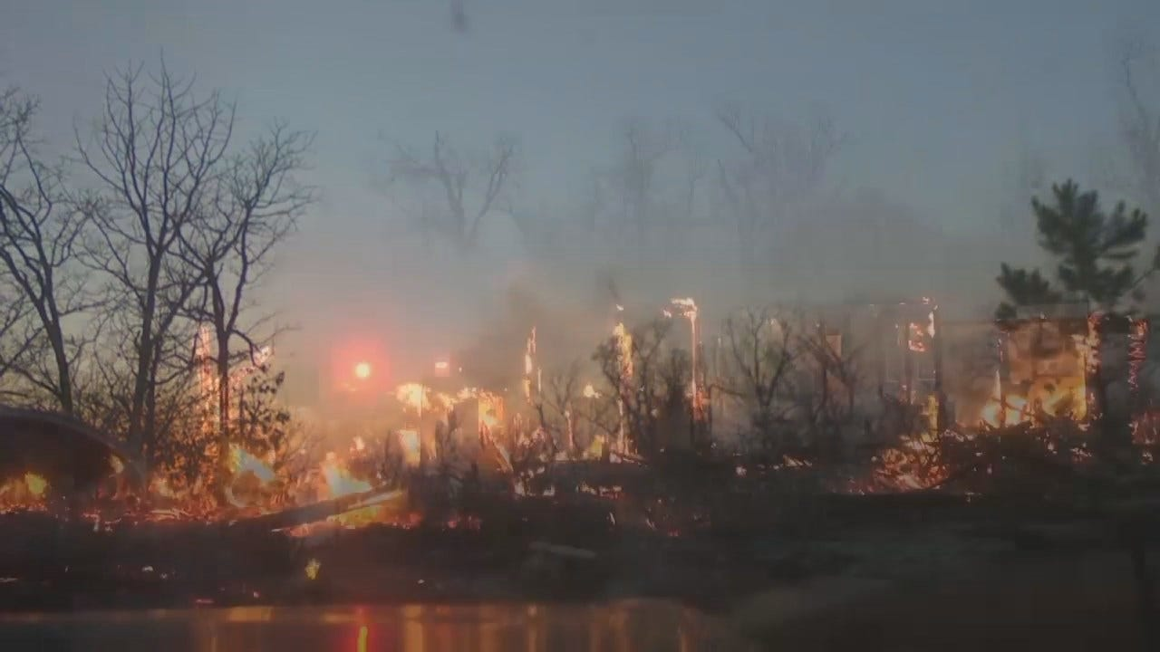 WEB EXTRA: Video From Pittsburg County Wildfire